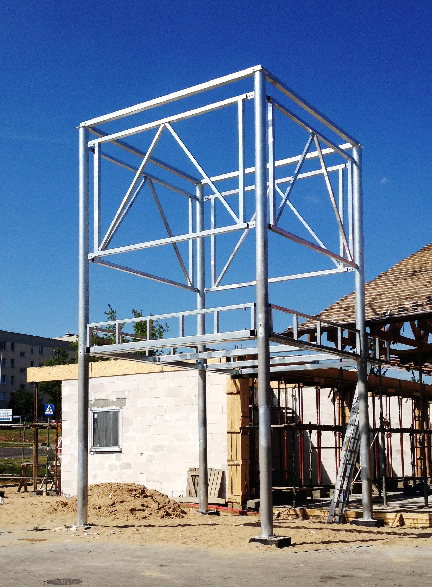 Wykonanie i montaż konstrukcji stalowej ocynkowanej.