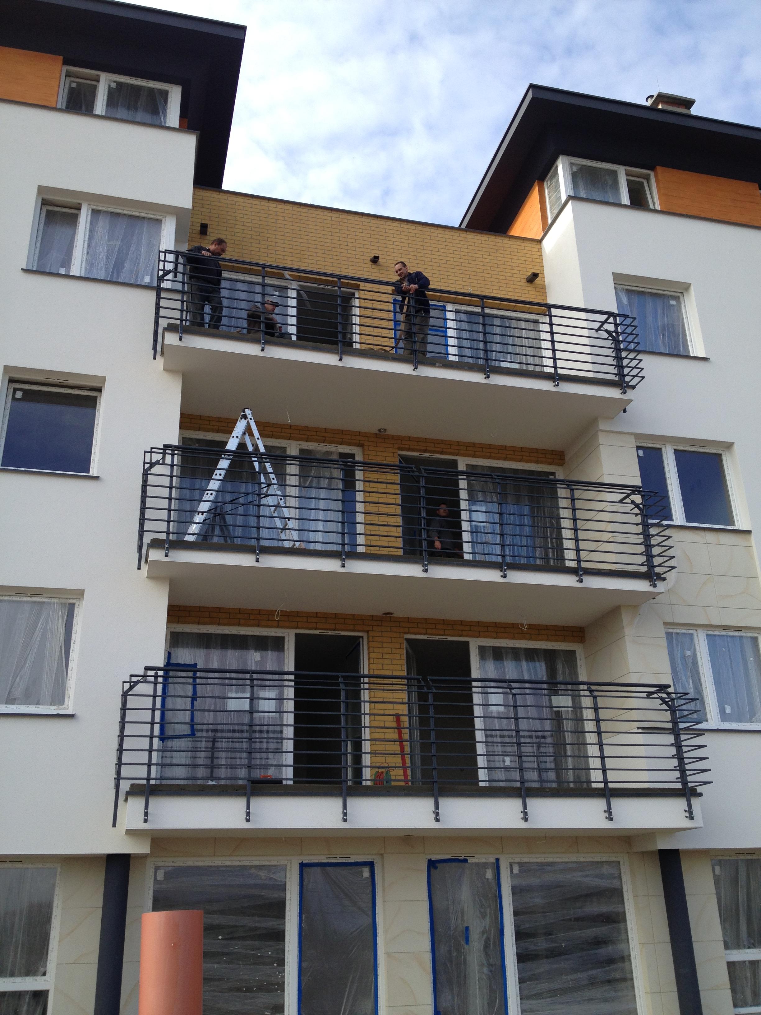 Balustrady balkonowe i tarasowe