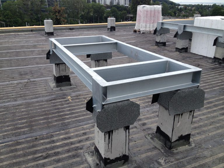 Wykonanie konstrukcji wsporczych pod centrale klimatyzacyjne