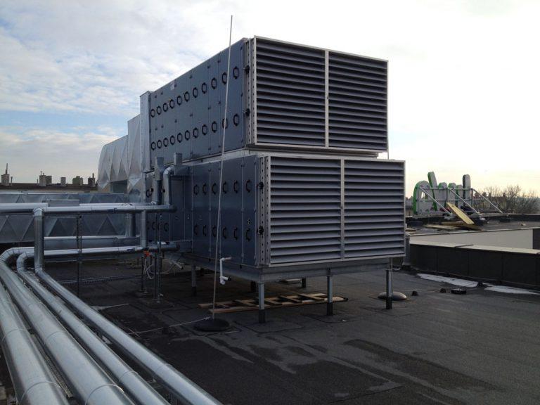Wykonanie konstrukcji wsporczych pod centrale klimatyzacyjne i chillery. Galeria Handlowa