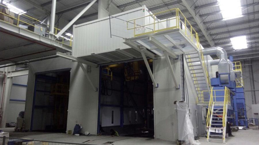 Wykonanie konstrukcji stalowej klatki schodowej śruciarni