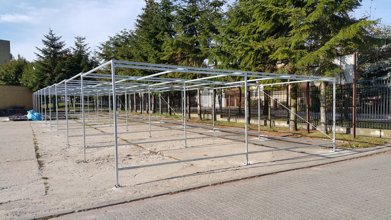 Wykonanie konstrukcji stalowej garaży szeregowych
