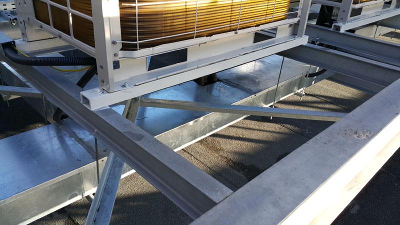 Wzmocnienie konstrukcji stalowej istniejących podpór central klimatyzacyjnych i wentylacyjnych
