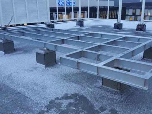Wykonanie i montaż konstrukcji wsporczych pod centrale wentylacyjne na budynku biurowym