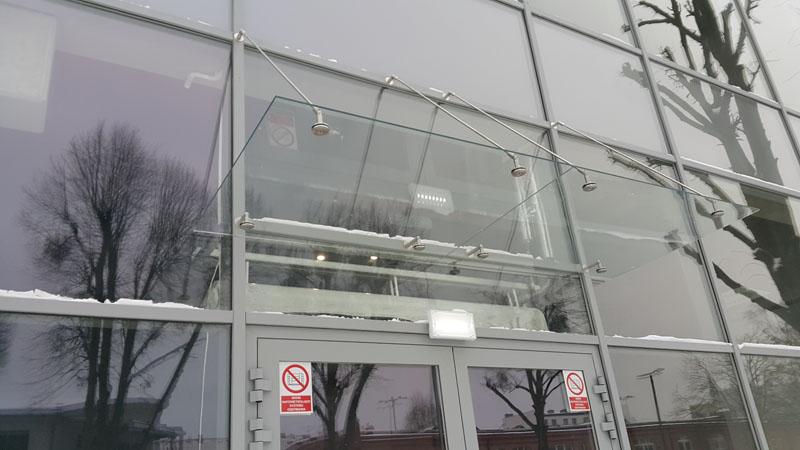 Wykonanie daszku ze szkła