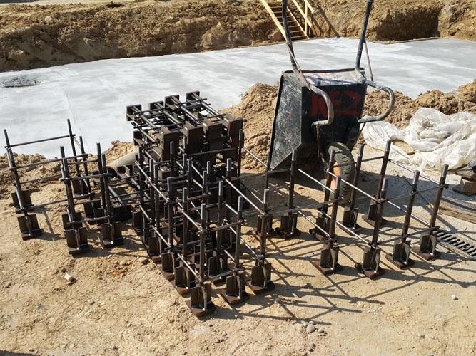 Wykonanie kotew stalowych w koszykach pod estakadę