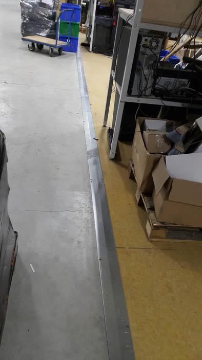 Wykonanie płaskowników giętych łączących posadzki